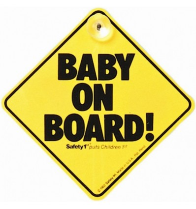 Safety First Baby On Board Sign