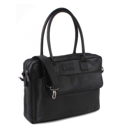 Kidzroom Leather Journey Diaperbag - Black