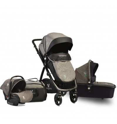 Cangaroo Stefanie 3in1 Καρότσι, Carrycot, Car Seat