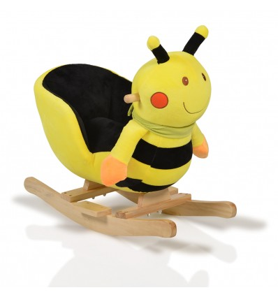 Plush rocking animal bee