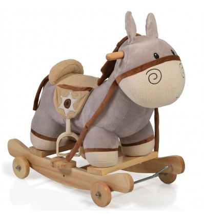 Plush rocking donkey Dulcinea