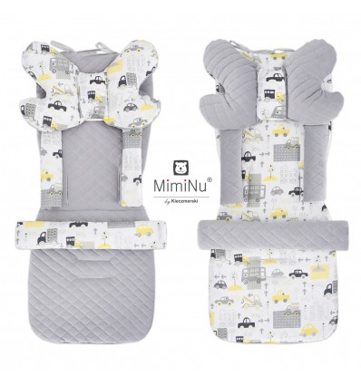 Miminu Double Face Stroller and Car Seat Cushion