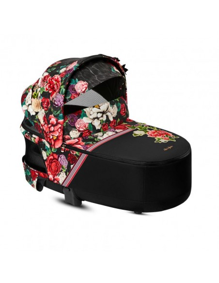 CYBEX Priam Lux Carrycot from Spring Blossom Limited Collection in Dark