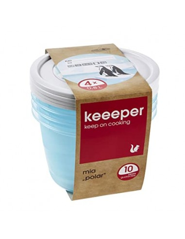 Keepeer Round Food Containers 4x 0.8L