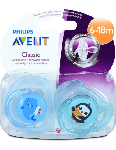 Philips Avent Classic Soothers Boys...