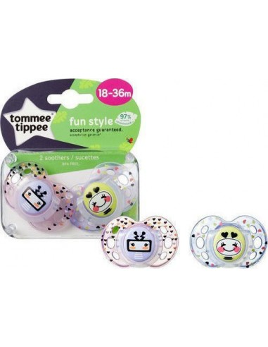 Tommee Tippee Fun Style Soothers Pink...