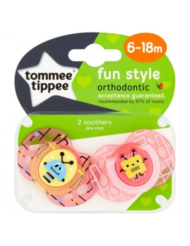 Tommee Tippee Fun Style Soothers Girl...