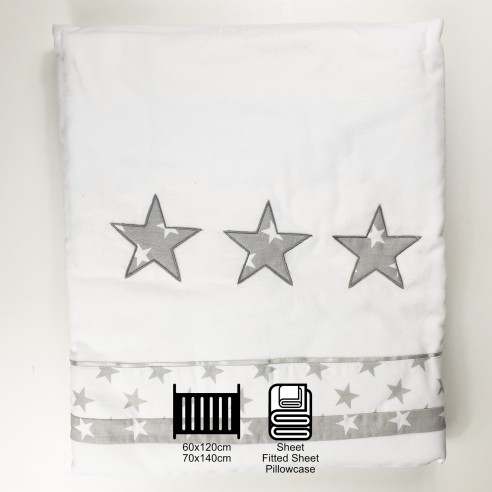 mk Collection Winter Bed Sheets - Stars